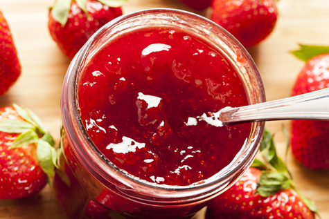 Homemade Organic Red Strawberry Jelly